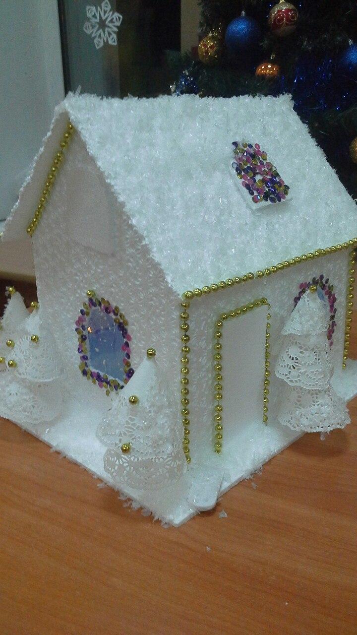 Новогодний домик с подсветкой своими руками фото 147